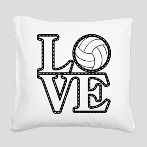 Love Volleyball Square Canvas Pillow