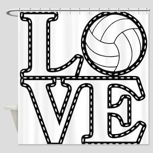 Love Volleyball Shower Curtain
