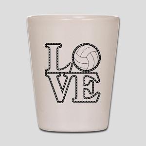 Love Volleyball Shot Glass