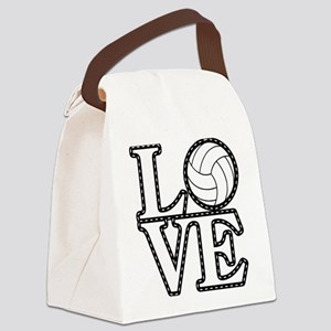 Love Volleyball Canvas Lunch Bag