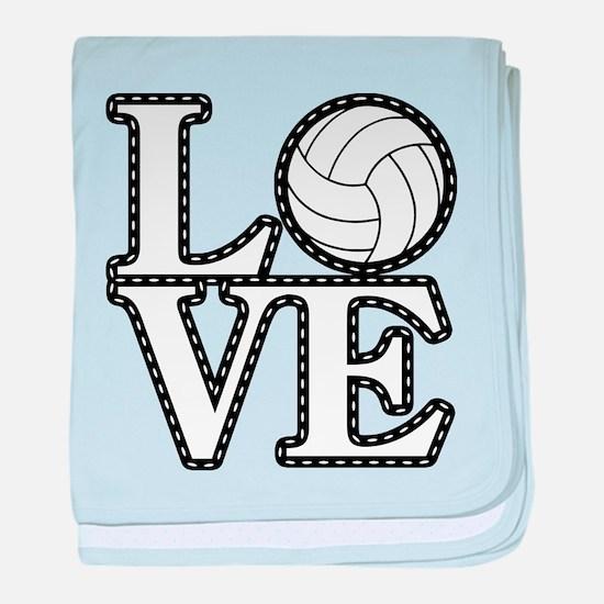 Love Volleyball baby blanket