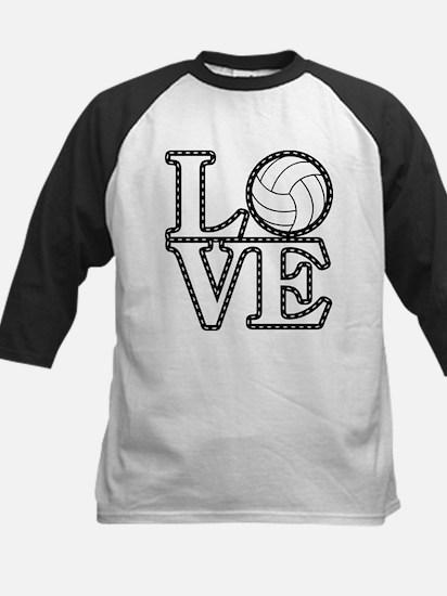 Love Volleyball Baseball Jersey