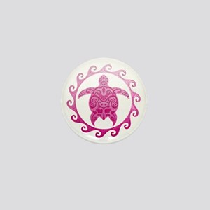 Pink Turtle Sun Mini Button