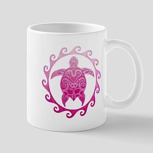 Pink Turtle Sun Mugs