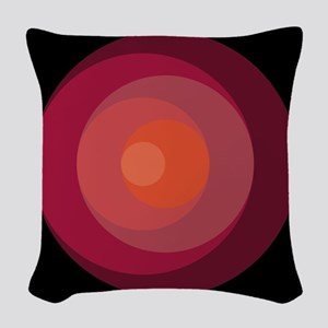 red circle Woven Throw Pillow