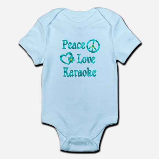 Peace Love Karaoke Infant Bodysuit