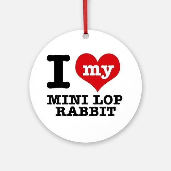 I love my Mini Lop Rabbit Ornament (Round)