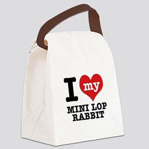 I love my Mini Lop Rabbit Canvas Lunch Bag