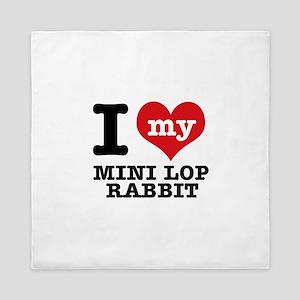I love my Mini Lop Rabbit Queen Duvet