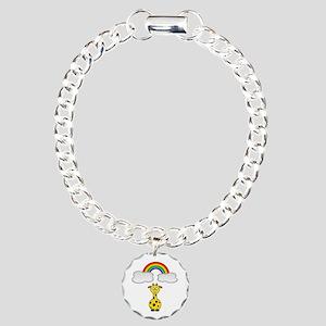 Giraffe & Rainbow Charm Bracelet, One Charm