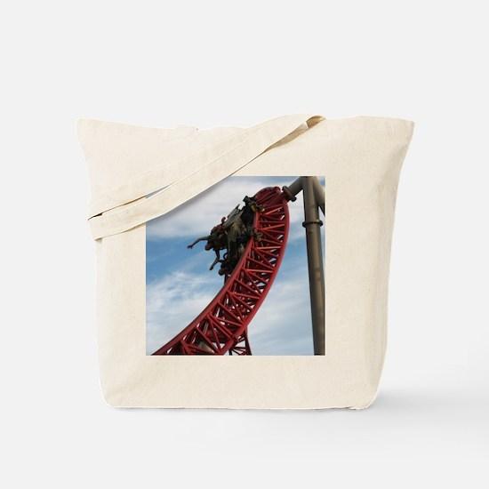 Cedar Point Maverick Roller Coaster Tote Bag