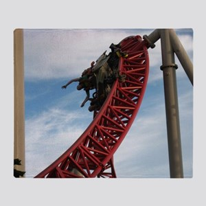 Cedar Point Maverick Roller Coaster Throw Blanket