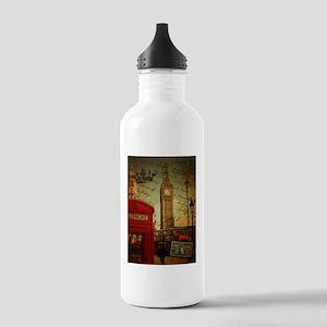 vintage London UK fash Stainless Water Bottle 1.0L