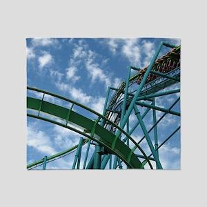 Cedar Point Raptor Roller Coaster Throw Blanket