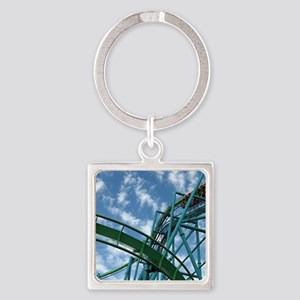 Cedar Point Raptor Roller Coaster Square Keychain
