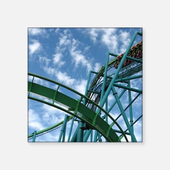 "Cedar Point Raptor Roller C Square Sticker 3"" x 3"""