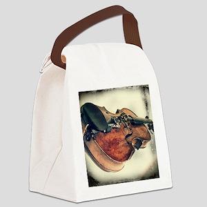 vintage fiddle Canvas Lunch Bag