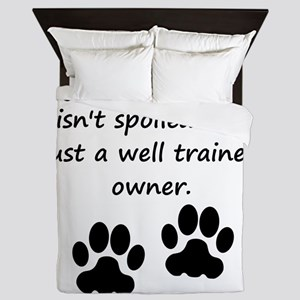 Well Trained French Bulldog Owner Queen Duvet