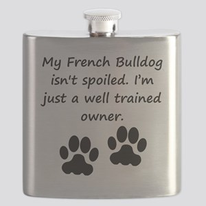 Well Trained French Bulldog Owner Flask
