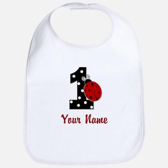 1 Ladybug ANY NAME! Bib