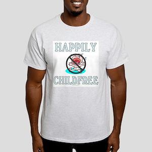 Happily childfree (light t-shirt)