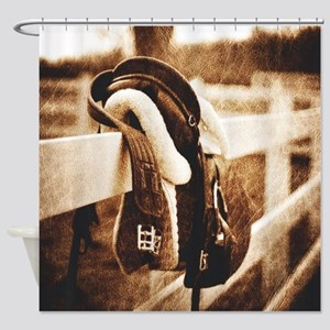 horse saddle cowboy fashion Shower Curtain
