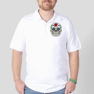Dark Sugar Skull Golf Shirt