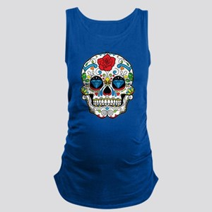Dark Sugar Skull Maternity Tank Top