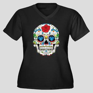 Dark Sugar Skull Plus Size T-Shirt