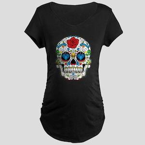 Dark Sugar Skull Maternity T-Shirt