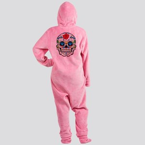 Dark Sugar Skull Footed Pajamas