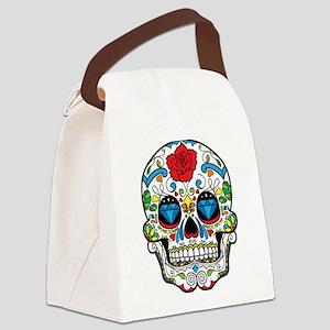 Dark Sugar Skull Canvas Lunch Bag