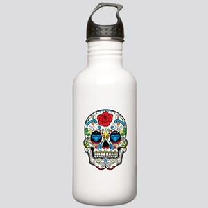 Dark Sugar Skull Water Bottle