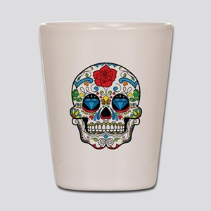 Dark Sugar Skull Shot Glass
