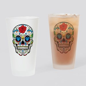 Dark Sugar Skull Drinking Glass