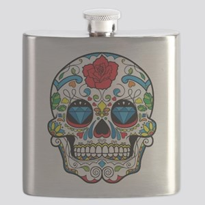 Dark Sugar Skull Flask