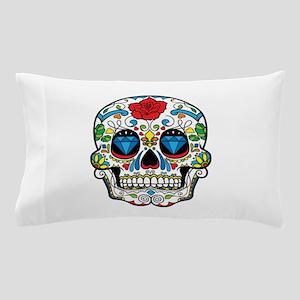 Dark Sugar Skull Pillow Case