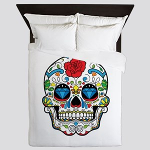 Dark Sugar Skull Queen Duvet