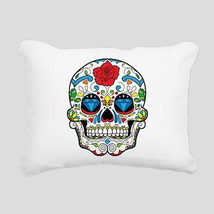 Dark Sugar Skull Rectangular Canvas Pillow