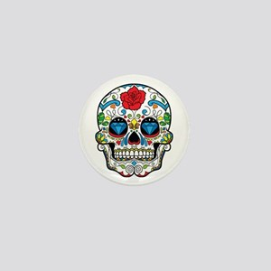 Dark Sugar Skull Mini Button