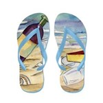 Wine Beach Party Flip Flops
