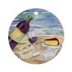 Wine Beach Party Ornament (Round)