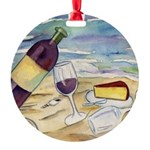 Wine Beach Party Ornament