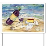 Wine Beach Party Yard Sign