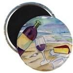 Wine Beach Party Magnets
