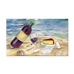 Wine Beach Party Rectangle Car Magnet