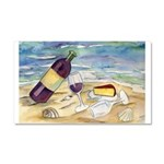 Wine Beach Party Car Magnet 20 x 12