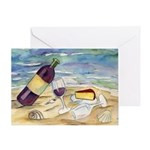 Wine Beach Party Greeting Cards
