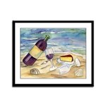 Wine Beach Party Framed Panel Print