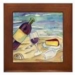 Wine Beach Party Framed Tile